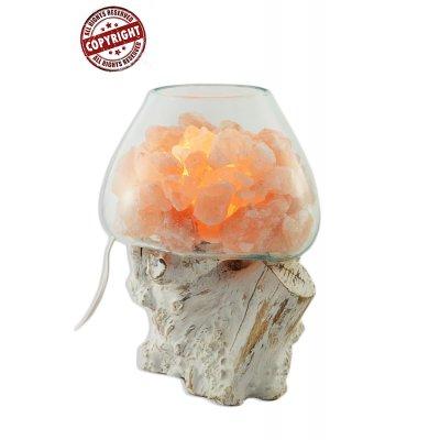 lampada di sale Unica Radice Bianca cod SAL077 (L)