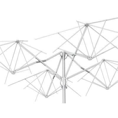 ombrellone Quattro colore Starwhite telaio - posizione mezzo aperto ideale per cambio telo