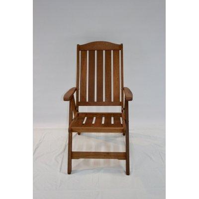 sedia reclinabile in legno di meranti