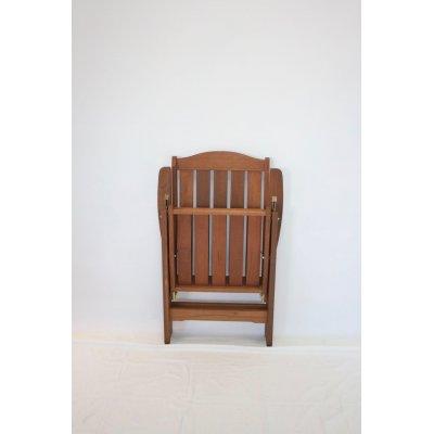 sedia reclinabile in legno di meranti - richiusa