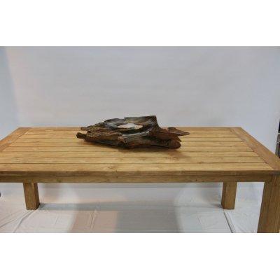 tavolo Bounty in tek riciclato con vassoio modello Capri