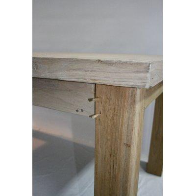particolare perni ferma gamba in bambù (da inserire) per tavolo Denpasar in tek riciclato