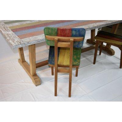 tavolo Bredford in tek riciclato con sedie in tek