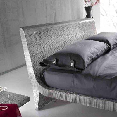 particolare letto Wave colore grey