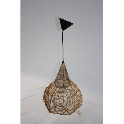 lampadario Africa in midollino e paglia di riso