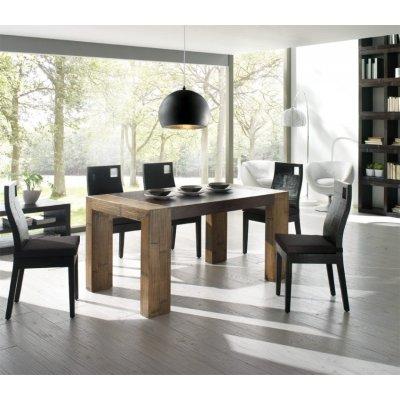 sedia Hotel nera con tavolo Stone