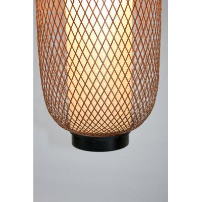 particolare del lampadario modello Pechino in bambù
