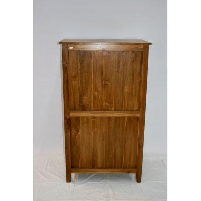 schienale della cassettiera modello Amalfi in legno di tek