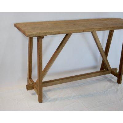 particolare della consolle in legno di rovere modello Lara