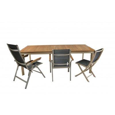 tavolo Apollo rettangolare grande (L) con sedie Veronica