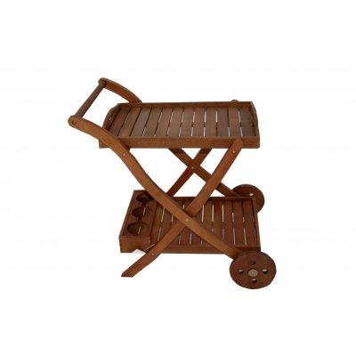 carrello in legno di balau modello Napoli