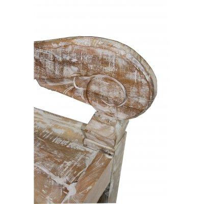 particolare della panca in tek riciclato modello Mercury