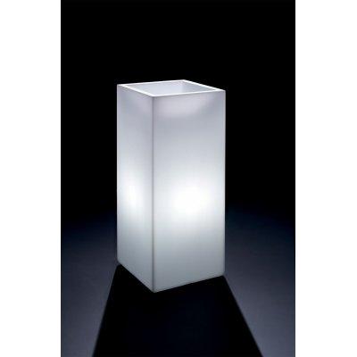cache-pot Cosmos quadrato alto con luce