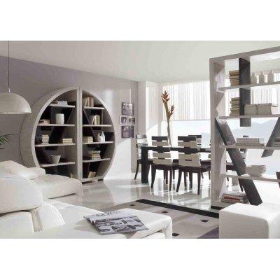 composizione librerie tavolo e sedie serie Cross