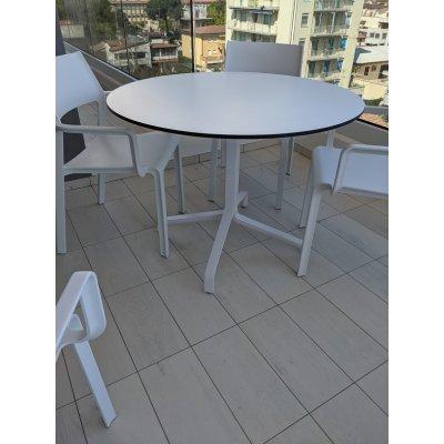 base Frasca Maxi colore bianco con piano laminato rotondo diam 100