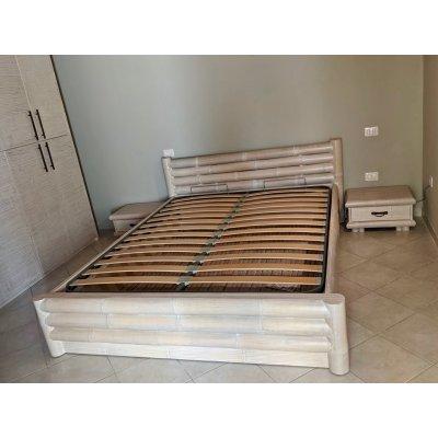 rete alzante 1 movimento su letto Monsoon, in posizione chiusa, con fondo in bambù
