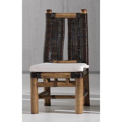 sedia Surya colore miele antico e croco