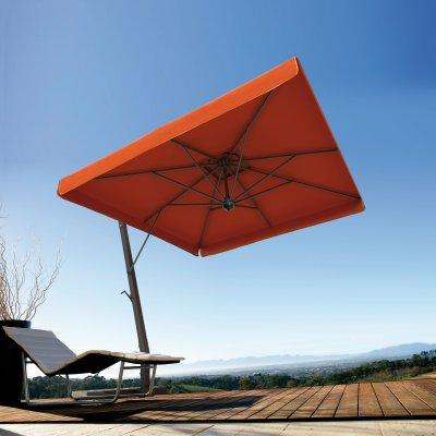 ombrellone Scolaro con tessuto acrilico di forma rettangolare con volant