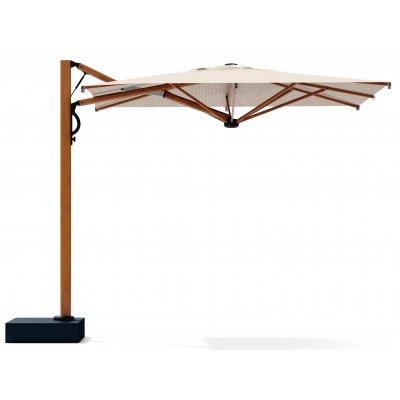 ombrellone Astro Timber 3 x 3, tessuto ecru, carter in acciaio zincato e verniciato a polveri colore antracite