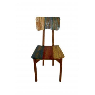 sedia colorata in tek