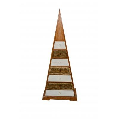 settimanale a piramide in tek