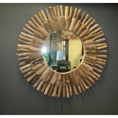 specchio Rami teak naturale