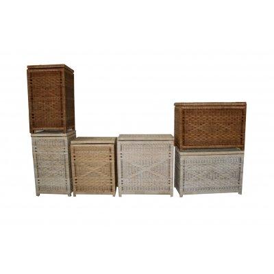 cesti portabiancheria serie Zuez, da sx verso dx piccolo (S), medio (M), grande (L) ed extra large (XL)
