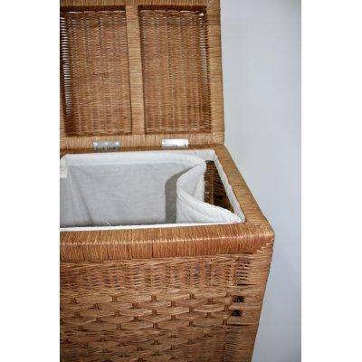 cesto portabiancheria serie Zuez piccolo (S) in midollino tinta miele