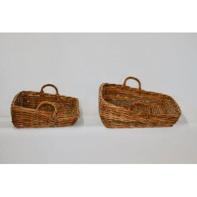 cesti espositori modello Arno in giunchino rosso misura piccola e media