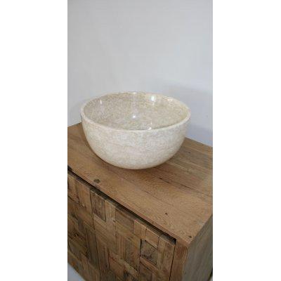 lavandino Marble White rotondo